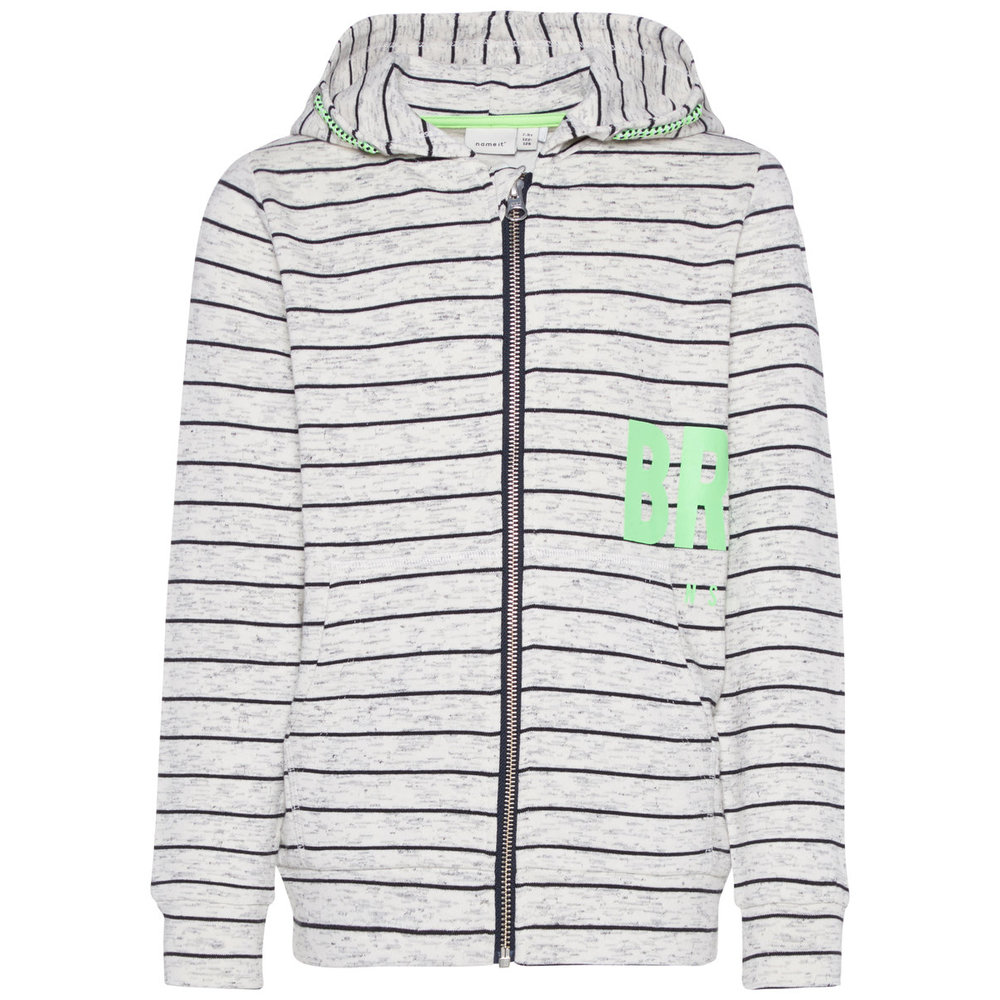 Zip-up hoodie striped
