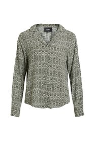 Blouse Long sleeved patterned