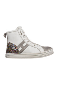 high top leather sneakers r141