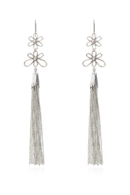 Earrings with floral motif