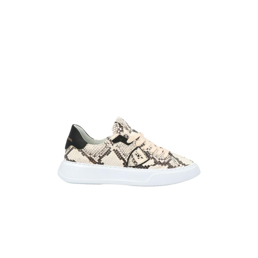 Temple Python læder sneakers