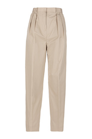 POPLIN PLEATED TROUSER