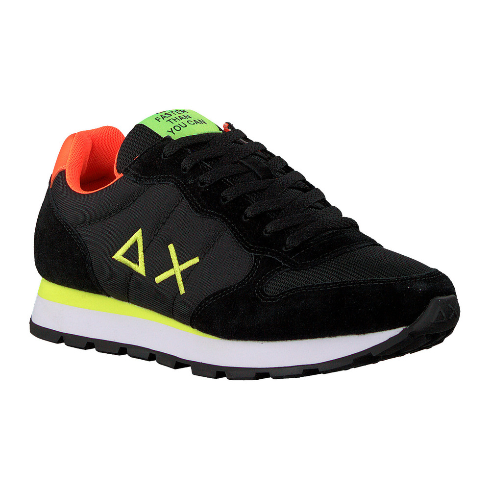 Black Lage sneakers Tom Fluo | Sun68 | Sneakers | Herenschoenen