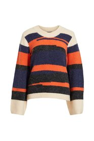 Knitted Pullover Patterned balloon sleeved