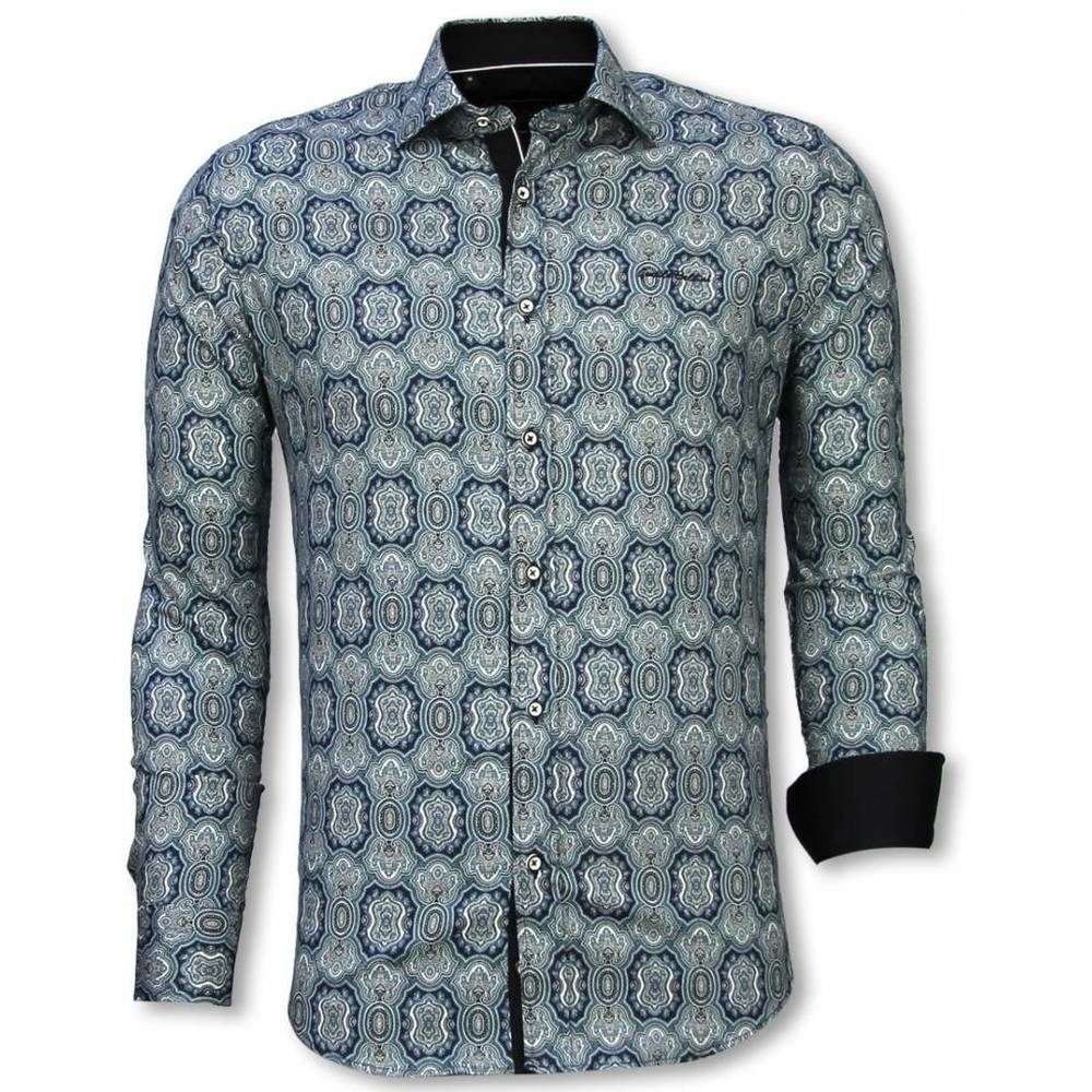 Slim Fit Shirt Ornament Pattern