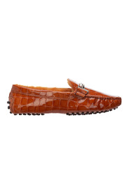 leather loafers double T