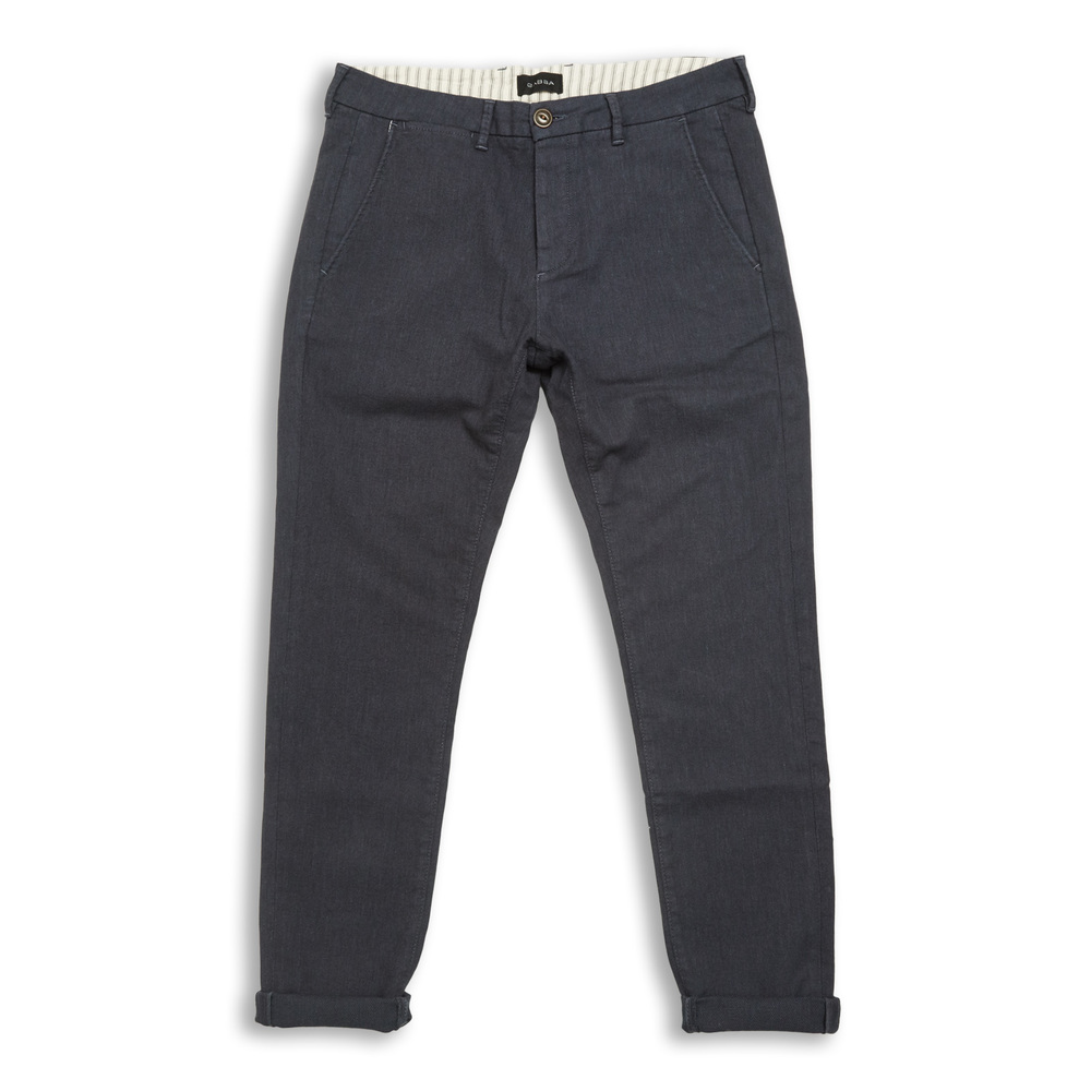 Jones Chino Blue Mel Jacquard