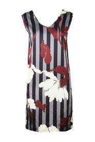 Sleeveless Stripe Floral Print Dress -Pre Owned Condition Excellent
