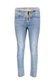 Jeans With Lace At Waist