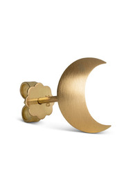 Half Moon Stud ear studs, 18 carat gold