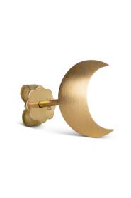 Half Moon Stud ørestik, 18 karat guld