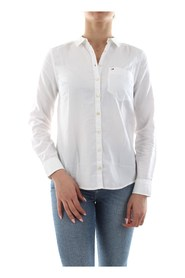 TOMMY JEANS DW0DW04433 ORIGINAL LIGHT OXFORD SHIRT Women WHITE