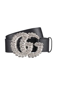 Belt with crystal buckle
