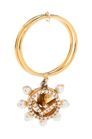 Pre-owned F is Fendi Charm Ring