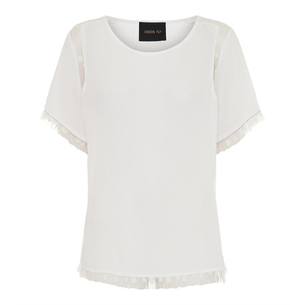 Dome Ss Blouse Med Blonder Bluse