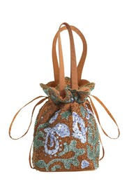 POUCH BEADED PAISLEY