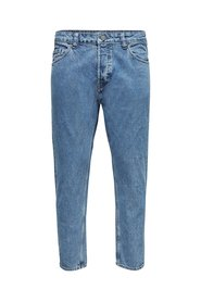 tapered fit jeans Avi beam washed light