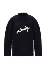 Branded roll neck top