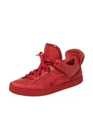 Brukte Leather and Suede Don High Top Sneakers