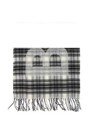 Patterned scarf with a plaid motif