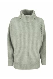 Cashmere turtleneck sweater with monili