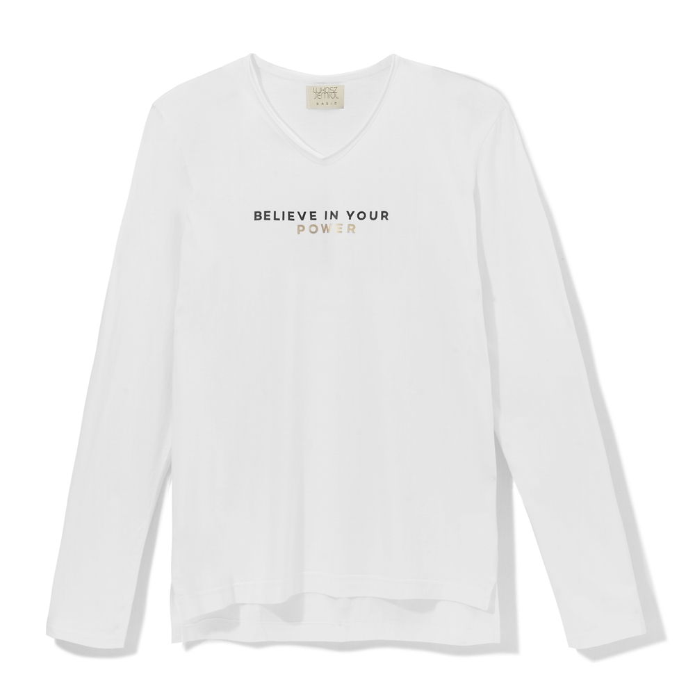Longsleeve BELIEVE IN YOUR POWER white