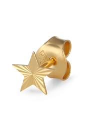 Reflection Stud Star, gold-plated sterling silver
