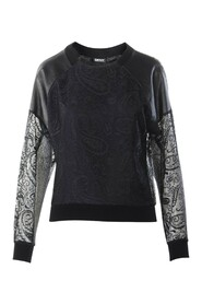 Laced and leather Long sleeves top