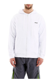 Zip-up hoodie with logo