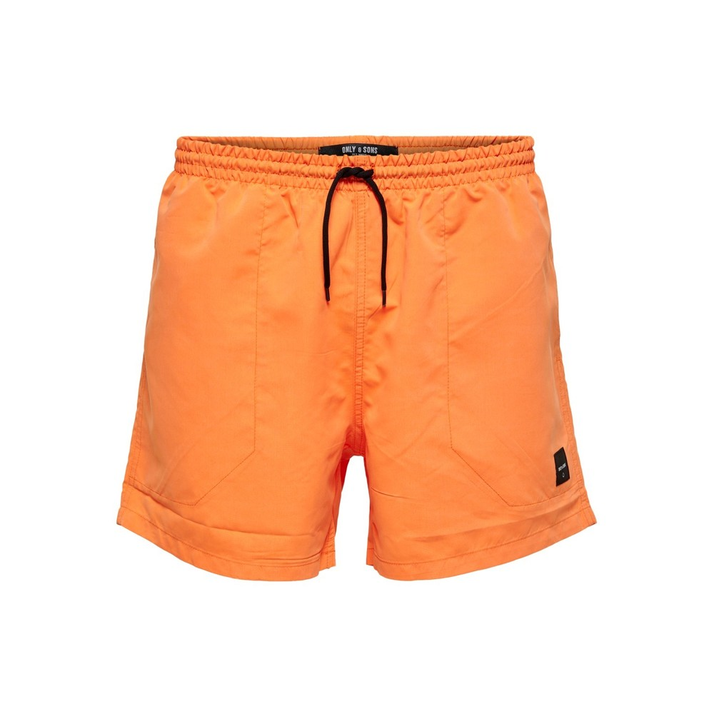 Oransje Only & Sons badeshorts