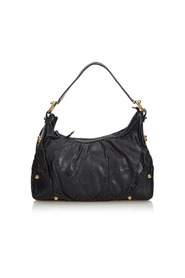 Leather Jockey Hobo Bag