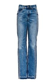 Five-pocket Denim Patchwork Jeans
