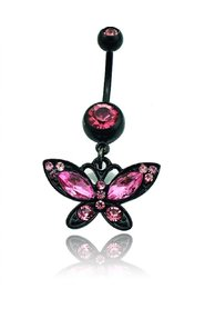 Navelpiercing Butterfly