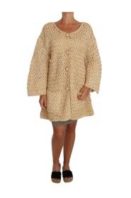 Cardigan Crochet Knitted Raffia