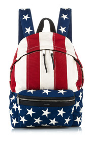 American Flag City Backpack Fabric Canvas