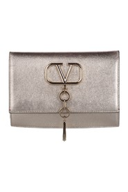 V-Ring Leather Crossbody Bag