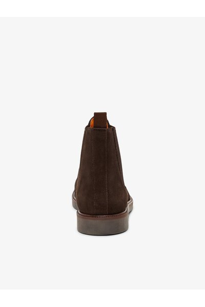 DarkBrown chelsea boots Leather | Bianco | Boots