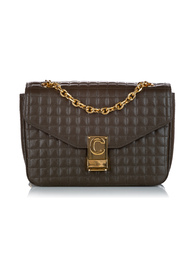 Begagnad C Quilted Leather Crossbody Bag