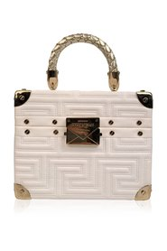 Couture Limited Edition White Leather Train Case Bag
