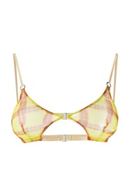 MULTI STRAP BRA WITH DOUBLE FRONT CLOSURE