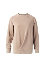 Modal blend sweater with pleats at front