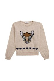 Sweater with Bamby Print
