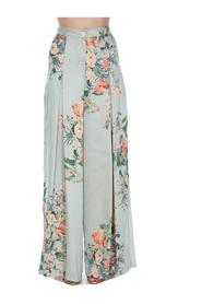 FLORAL PANTS WITH SIDE SLITS