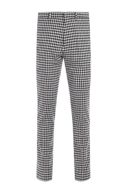Checkered cotton trousers