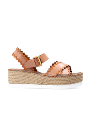 Fermo leather wedge espadrilles