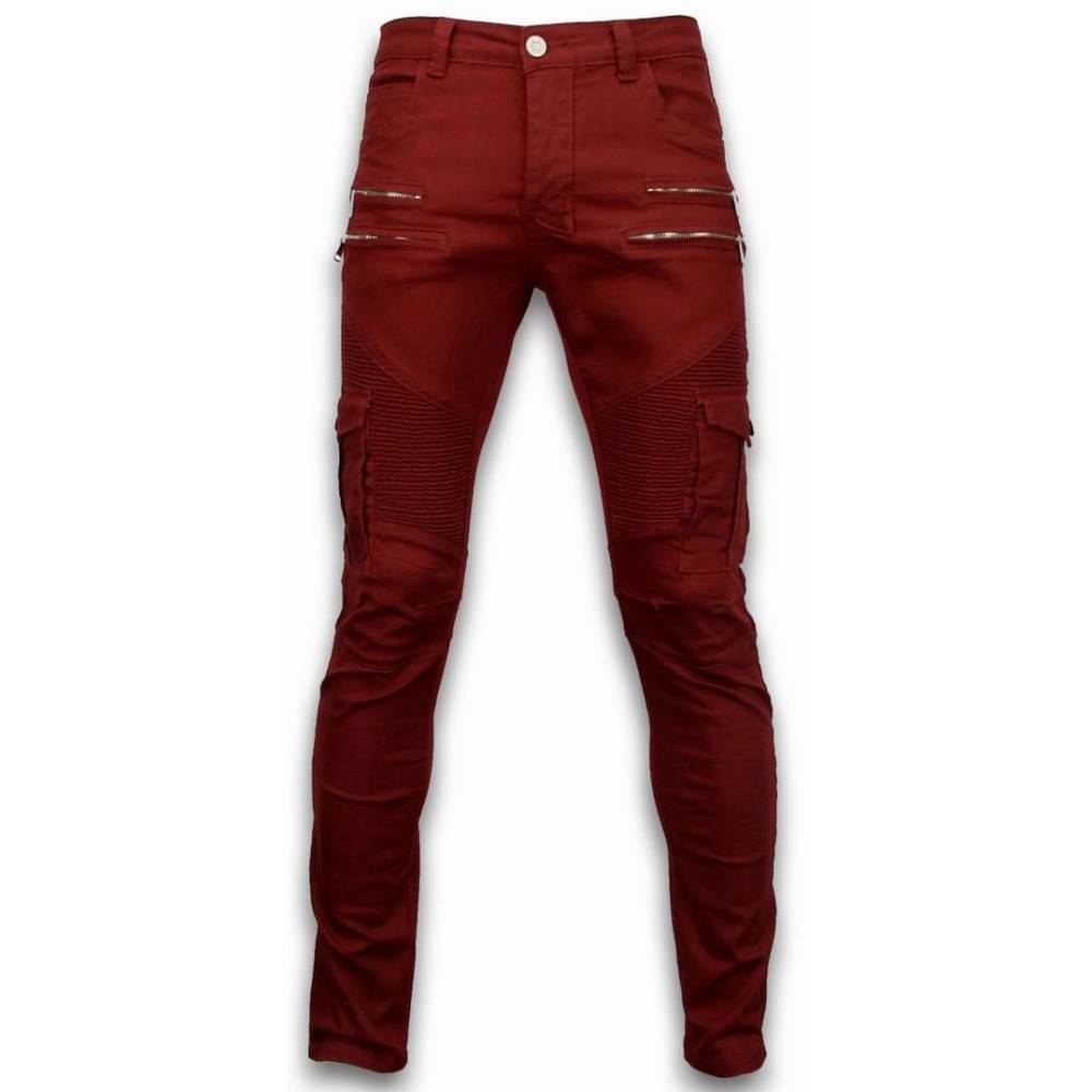 Slim Fit Biker Jeans Side Fickor & Zippers