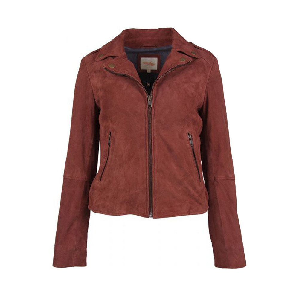 RUST LEATHER JACKET