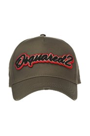 Baseball cap with sewn-on logo