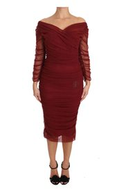 Stretch Sheath Bodycon Gown Dress
