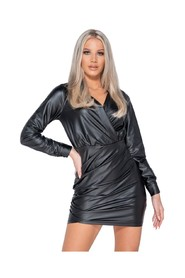 Wrapover Front Bodycon Mini Dress